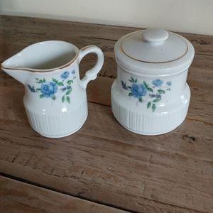 Japanese Ceramic Cream and Sugar set